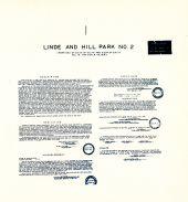 Linde and Hill Park No. 2 - Sheet 1, King County 1945 Vols 1 and 2